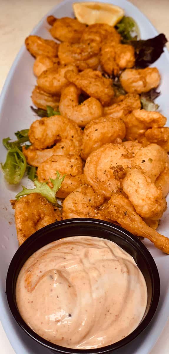 Jerk Popcorn Shrimp