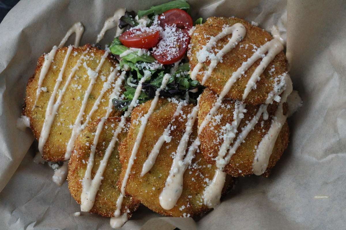 Hush Puppy Fried Green Tomatoes