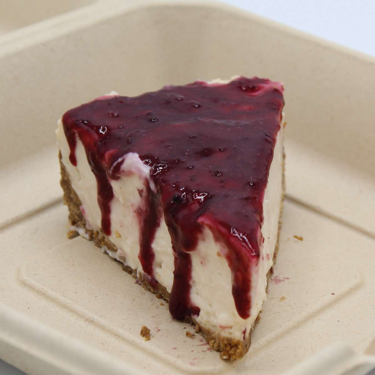 Cheesecake with Organic Berry Compote