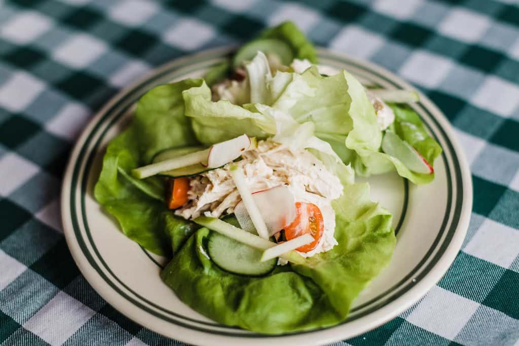 Lemon Chicken Salad Wrap