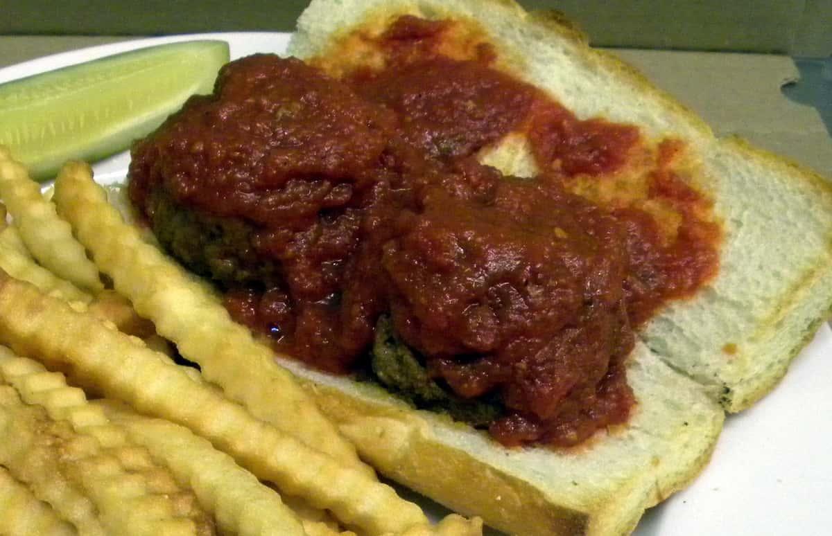 Homemade Meatball Sandwich