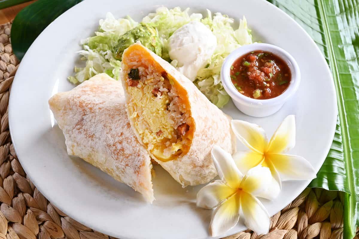 Hawaiian Breakfast Burrito