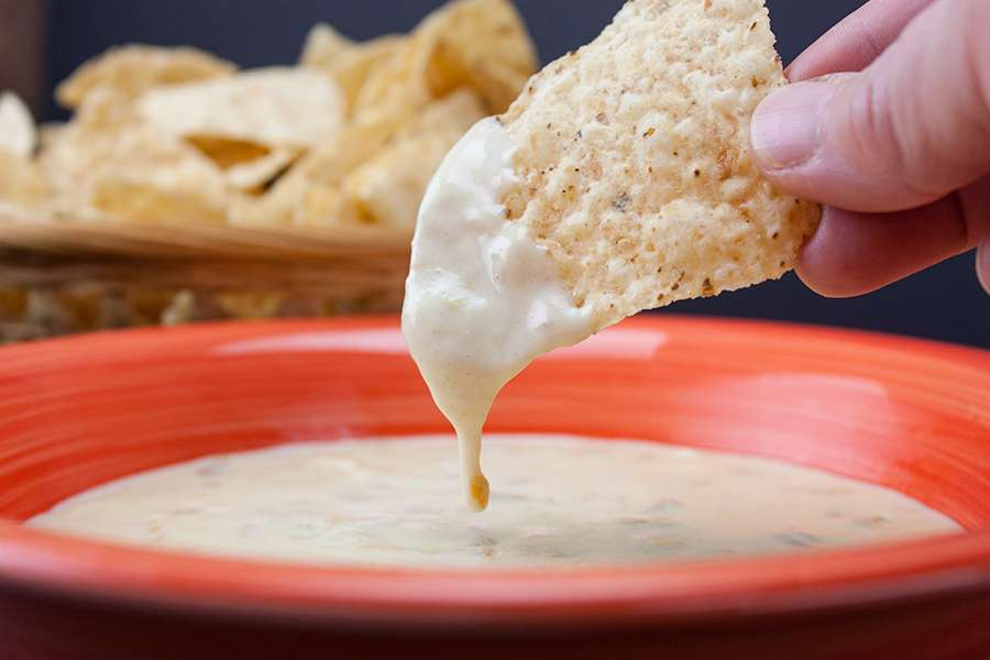 Homemade Queso Dip and Chips
