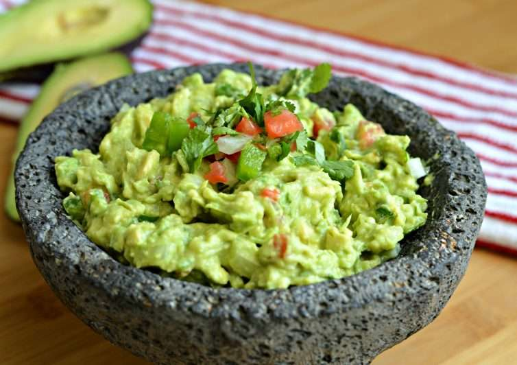 Fresh Homemade Guacamole and Chips