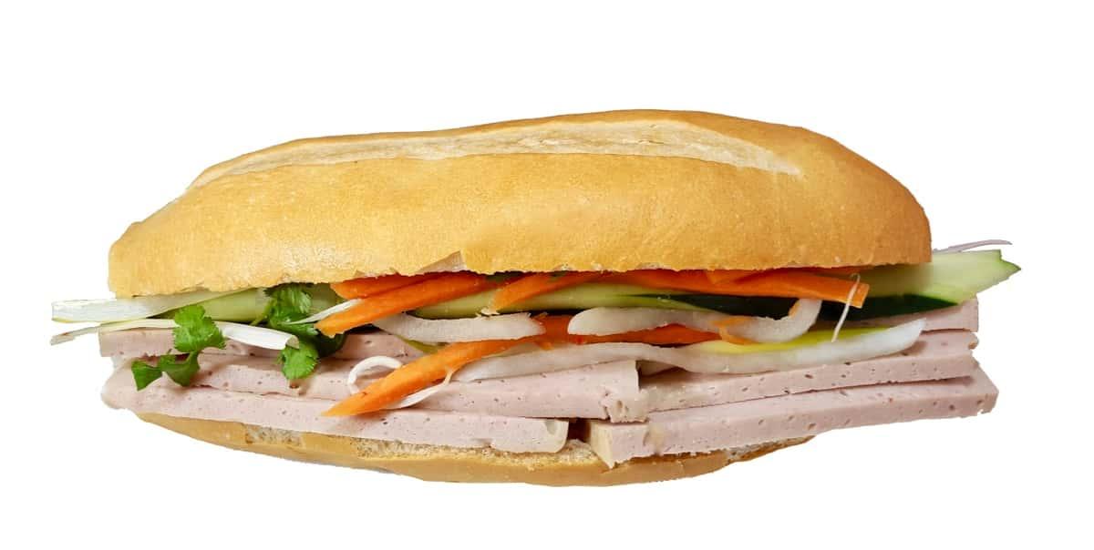 Pate, Vietnamese Ham Sandwich (Bánh mì pate và chả)