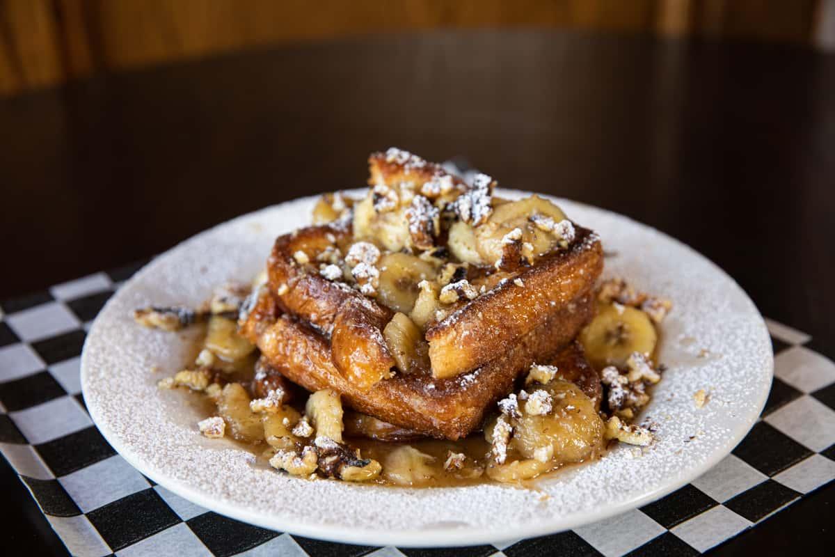 Banana Bourbon French Toast