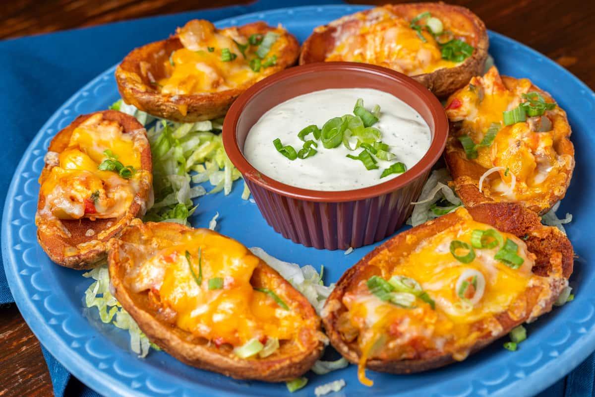 Mexi-Fried Potato Skins