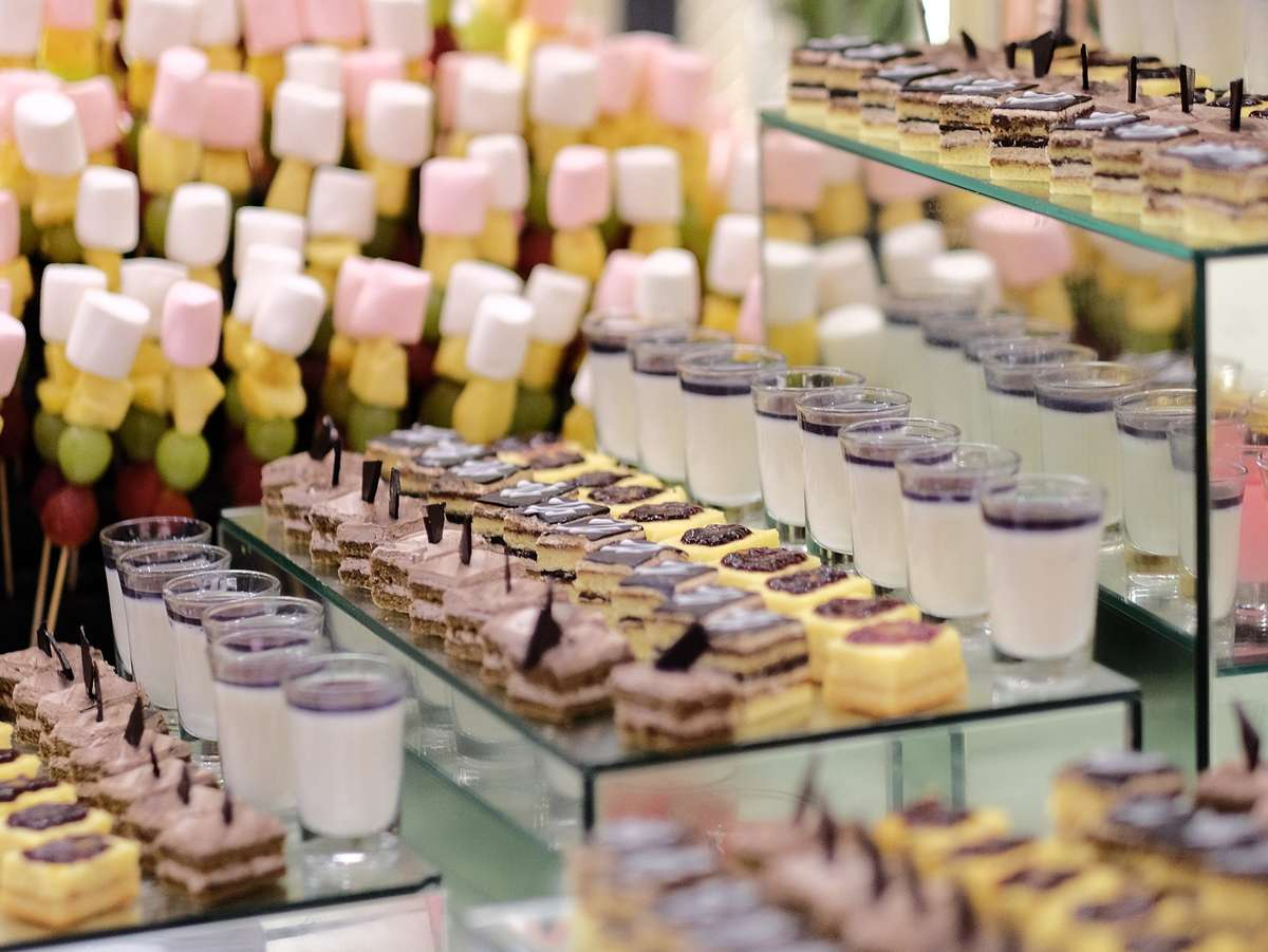 assorted catered desserts