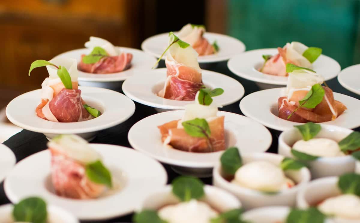 prosciutto catering dishes