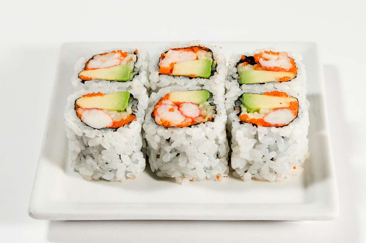 California Roll with King Crab