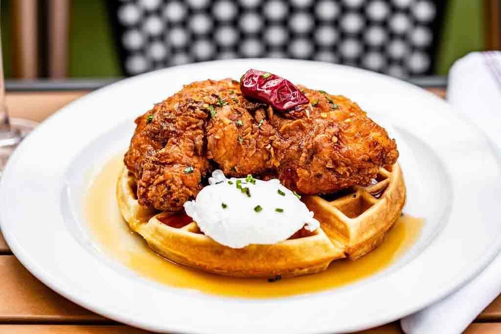Italian Fried Chicken & Waffle