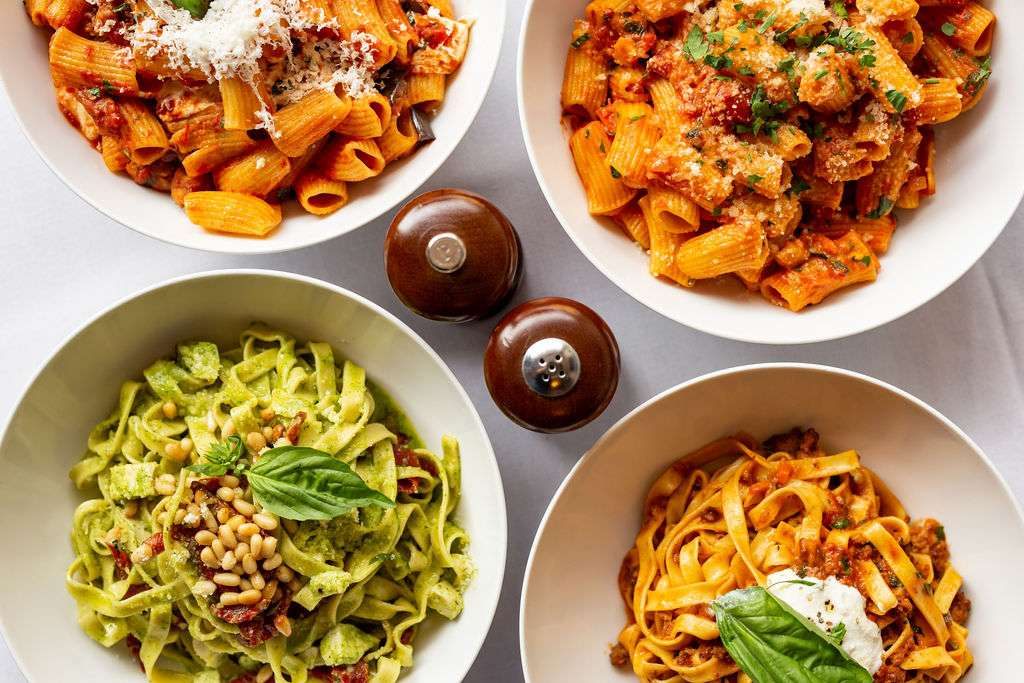 group pasta dishes