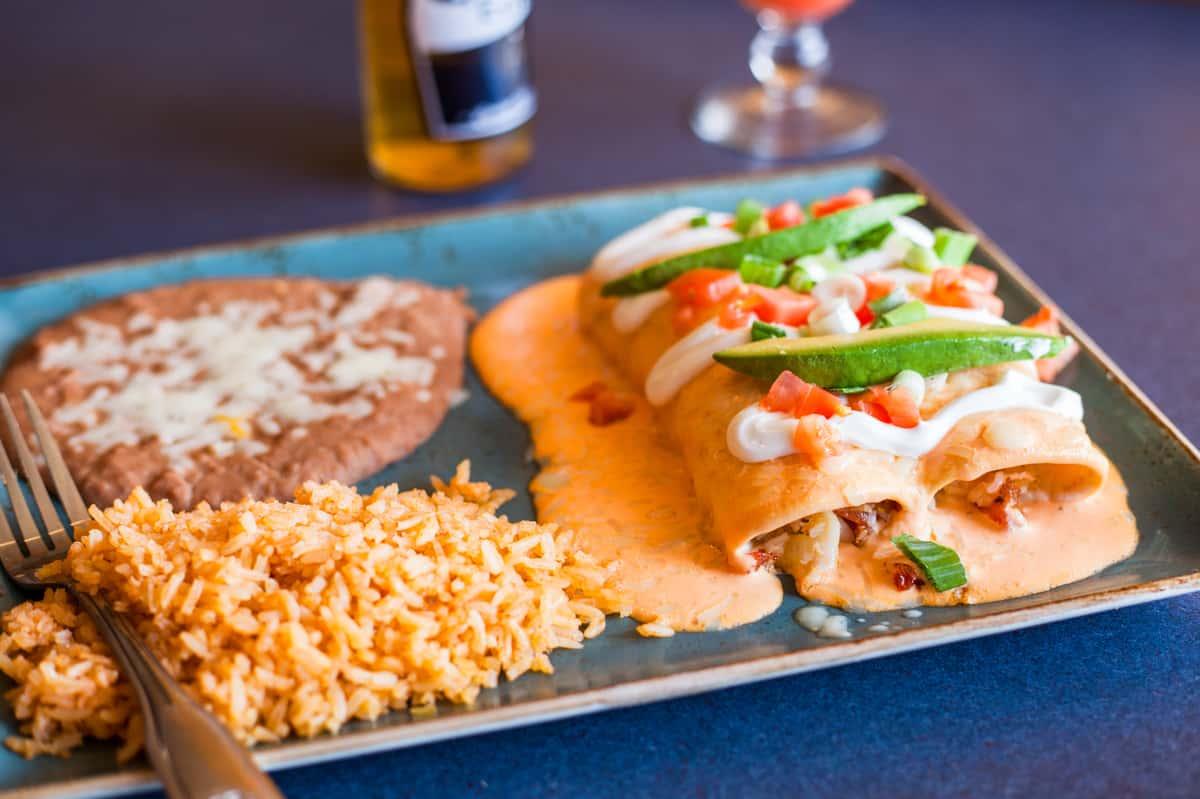Lobster, Crab or Shrimp Enchiladas