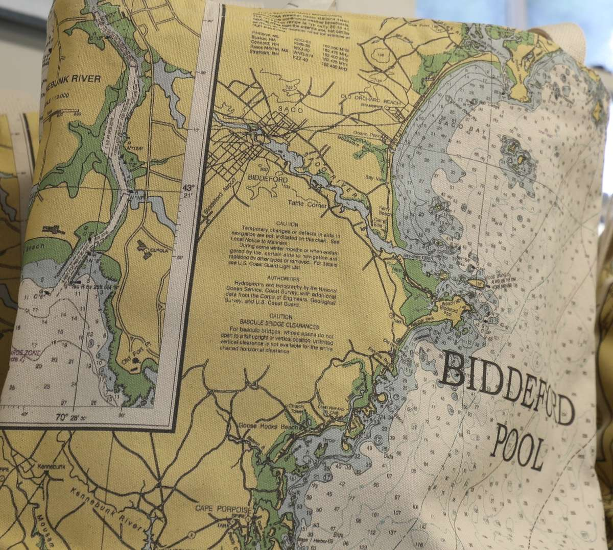 map printed on cloth