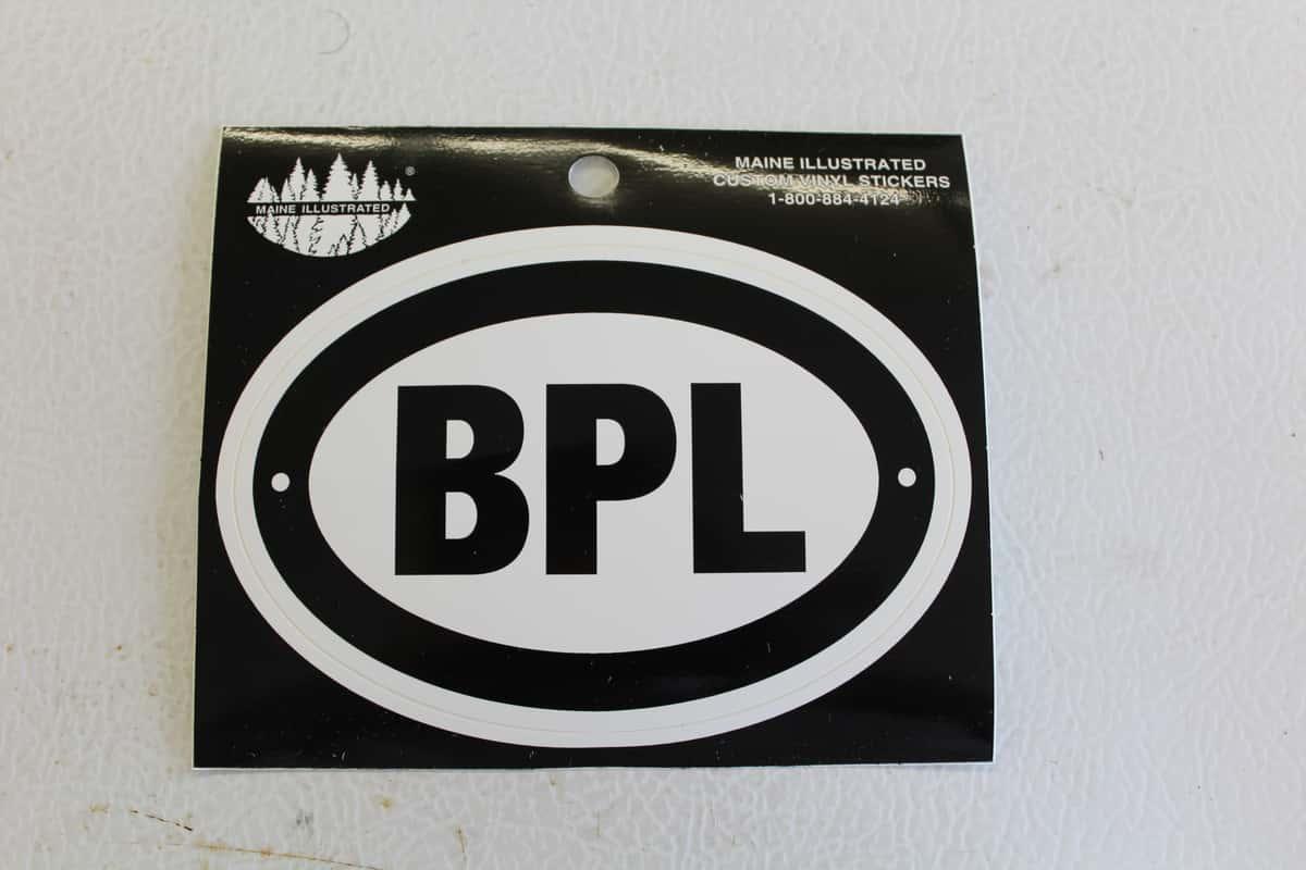 Large BPL Sticker