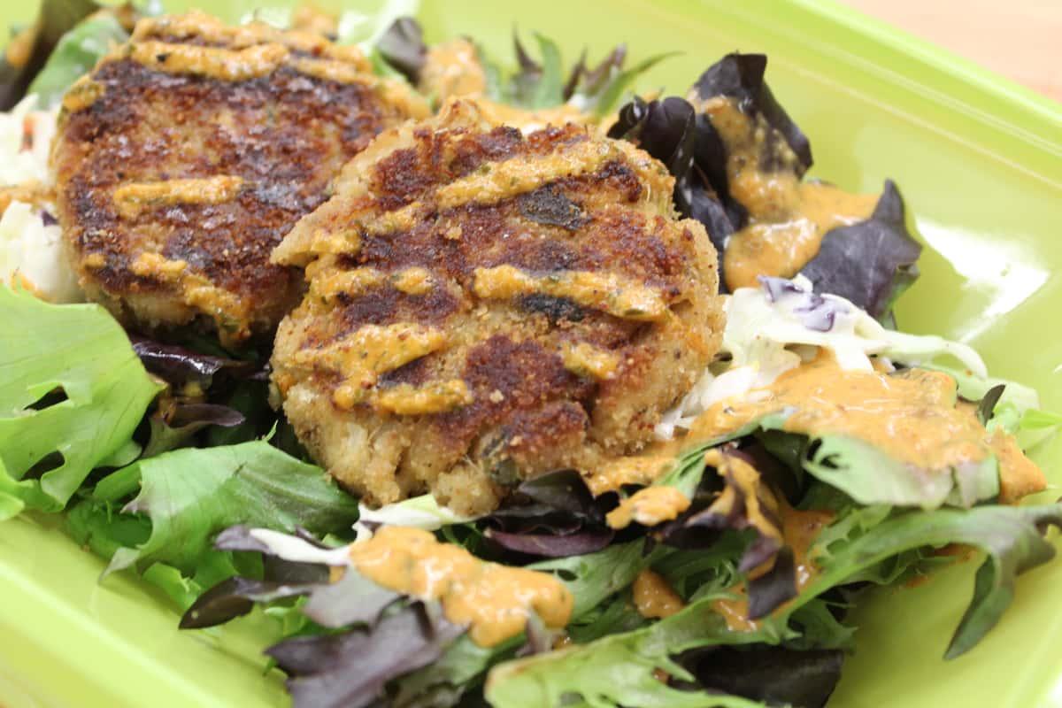 Spicy Crab Cake Salad