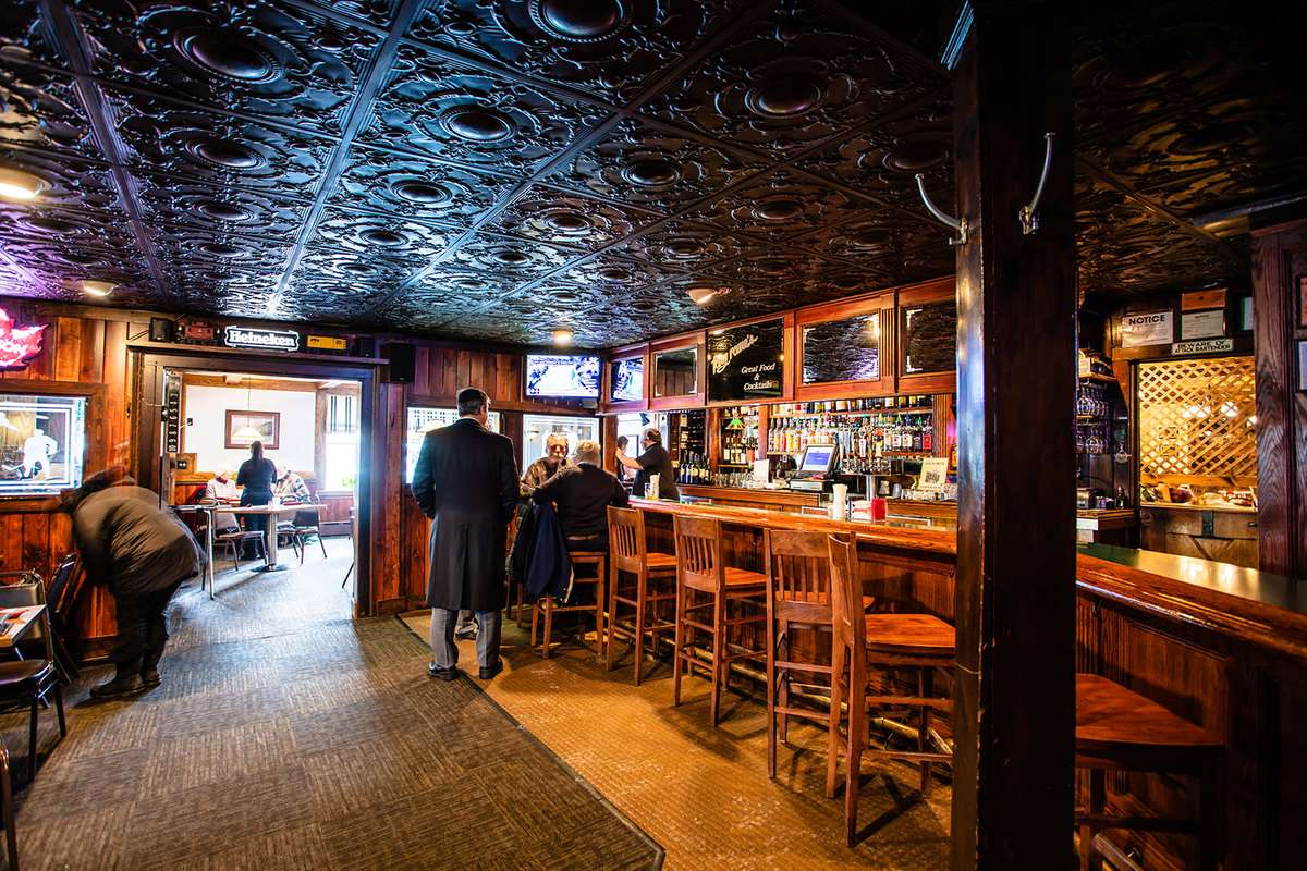 inside bar and ceiling