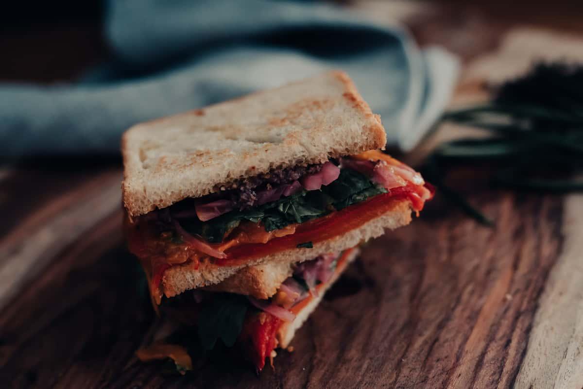 red pepper sandwich