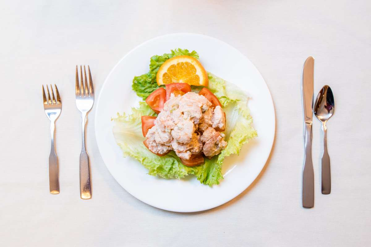 Stuffed Tomato With Shrimp Salad