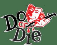 do or die logo with drama masks