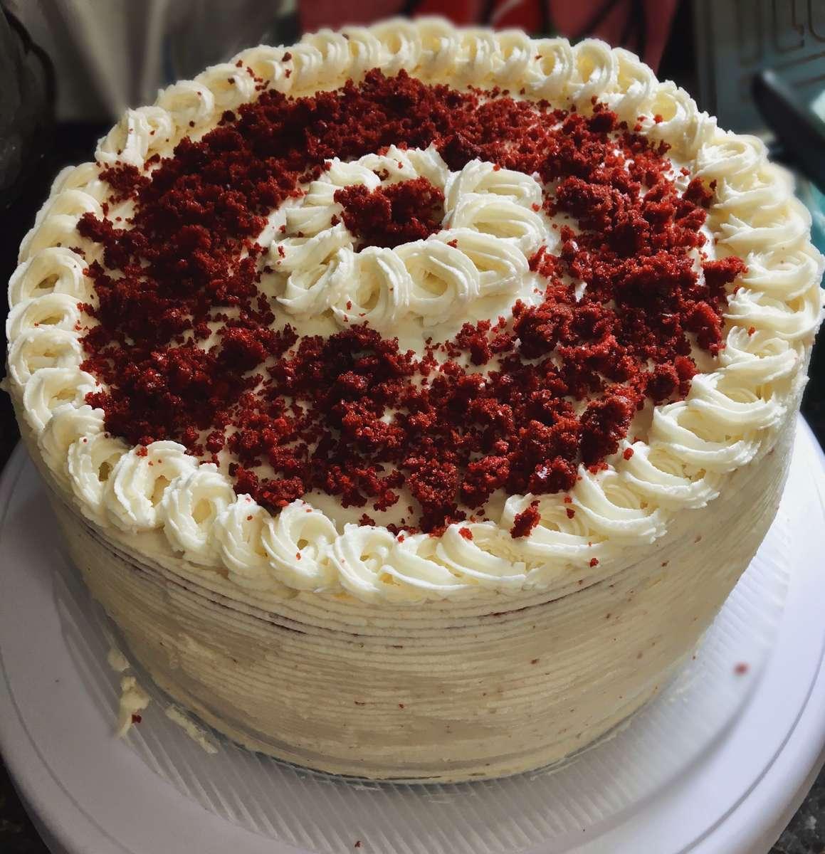 Homemade Red Velvet Cheesecake
