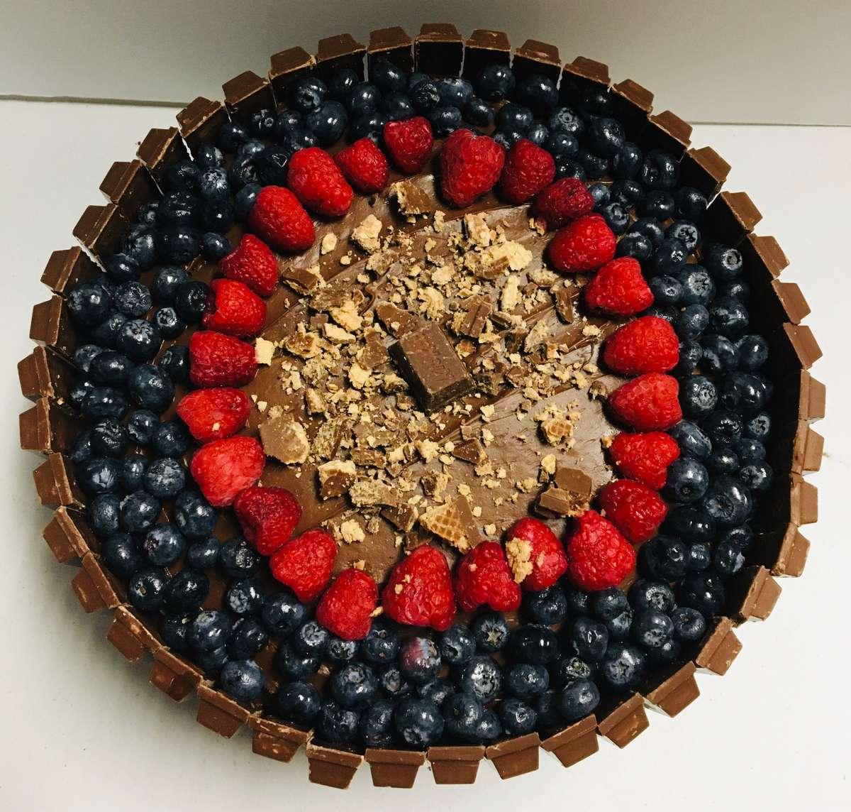 Homemade Kit Kat Cake
