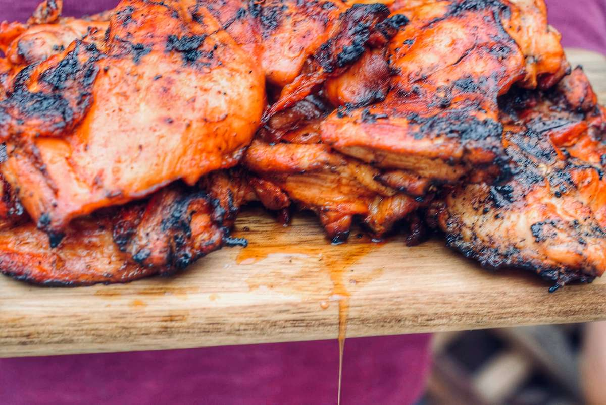 1/2lb Boneless & Skinless BBQ Chicken Thighs
