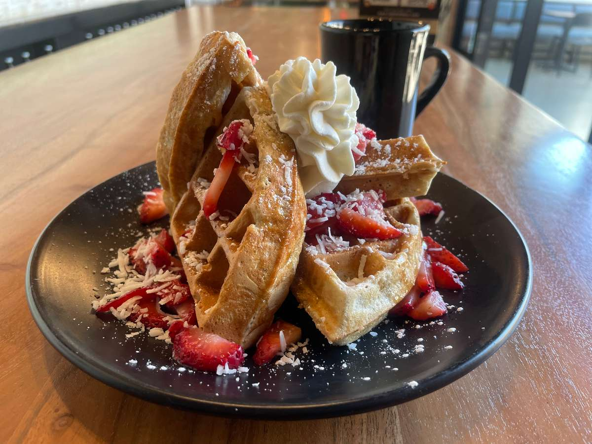 Waffle: Strawberry Coconut (Weekend Special)