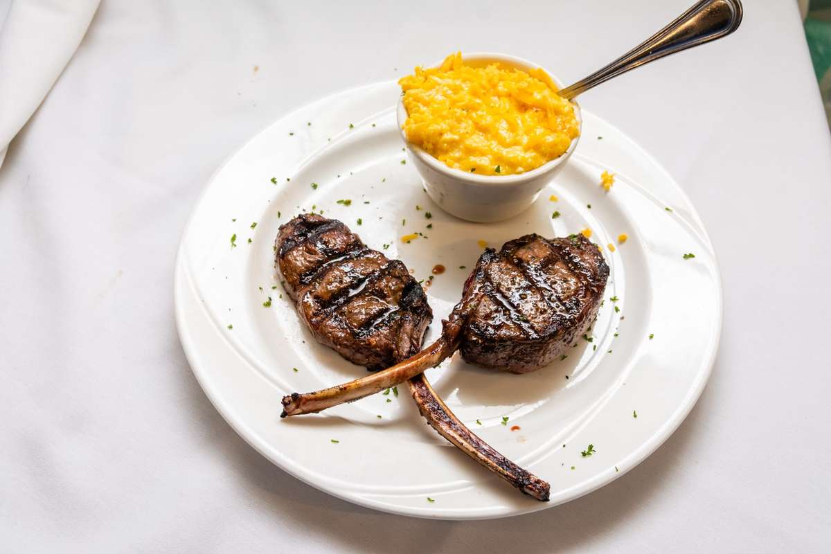 elk with grits