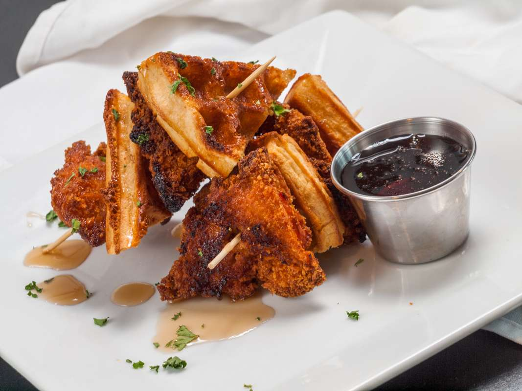 Buttermilk Fried Chicken and Waffle