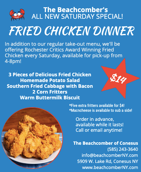 Fried Chicken Saturday Special