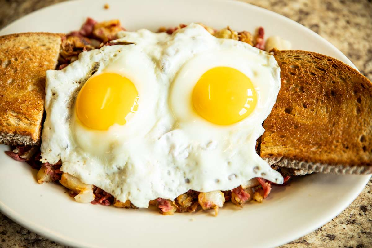 2 Eggs, Hash and Toast