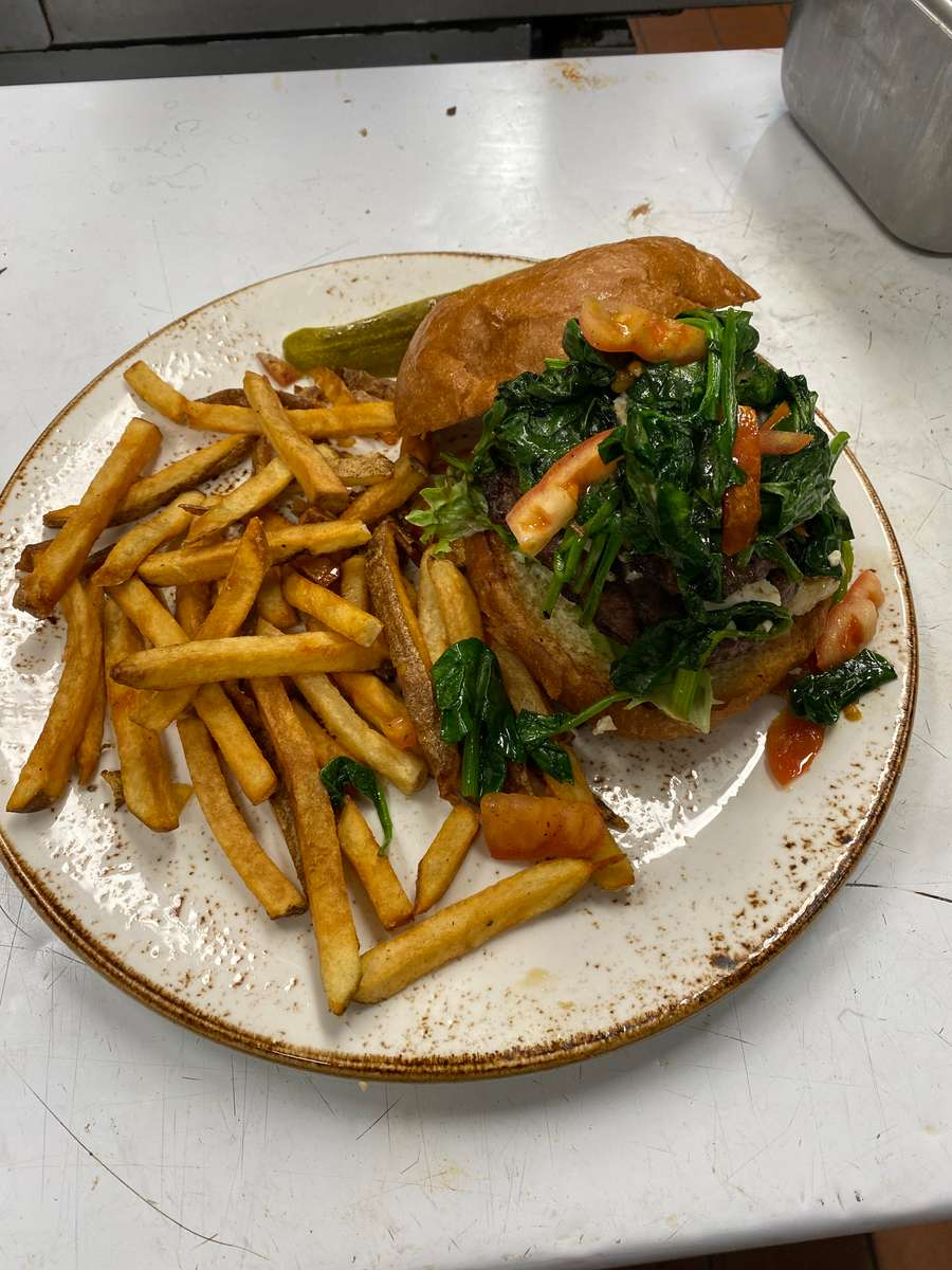 Greek Double Burger