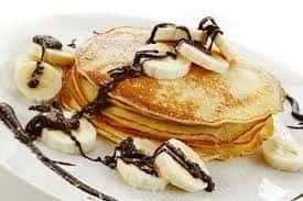 Banana & Nutella Pancakes