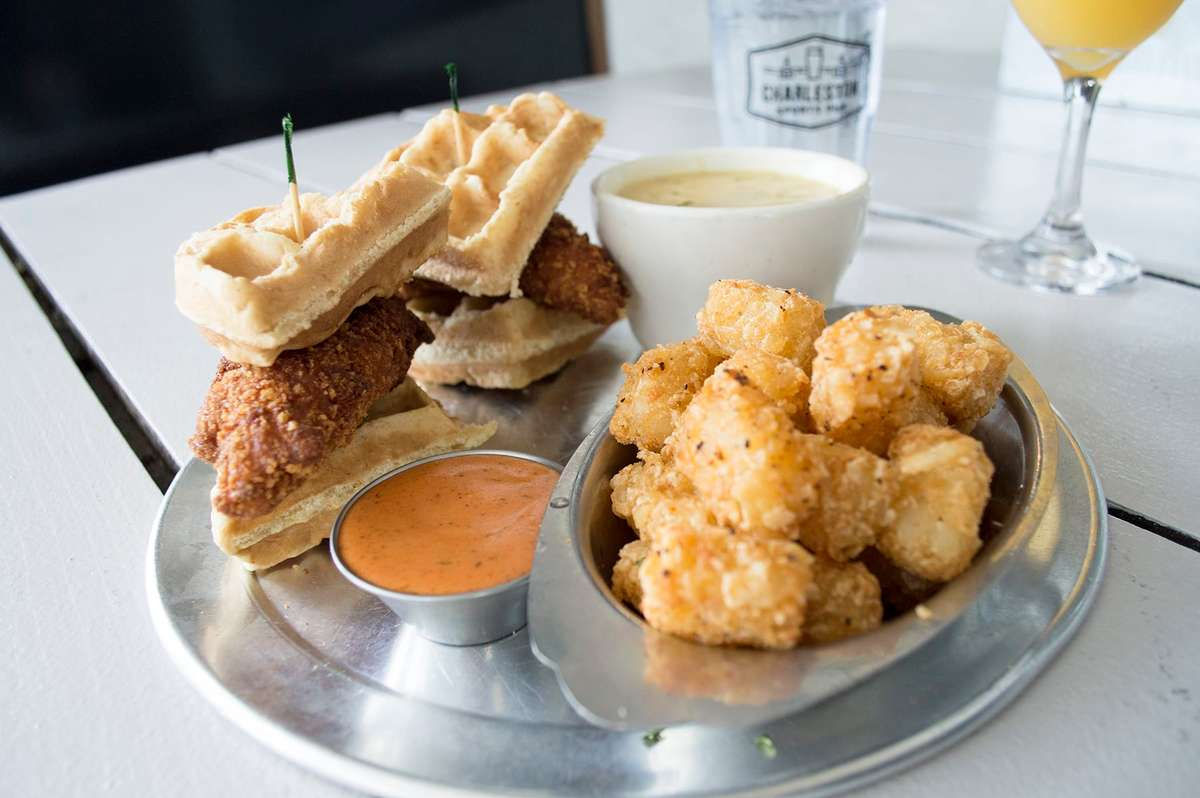 "Chicken and Gravy Waffle Sliders ""Steve Latimer"""