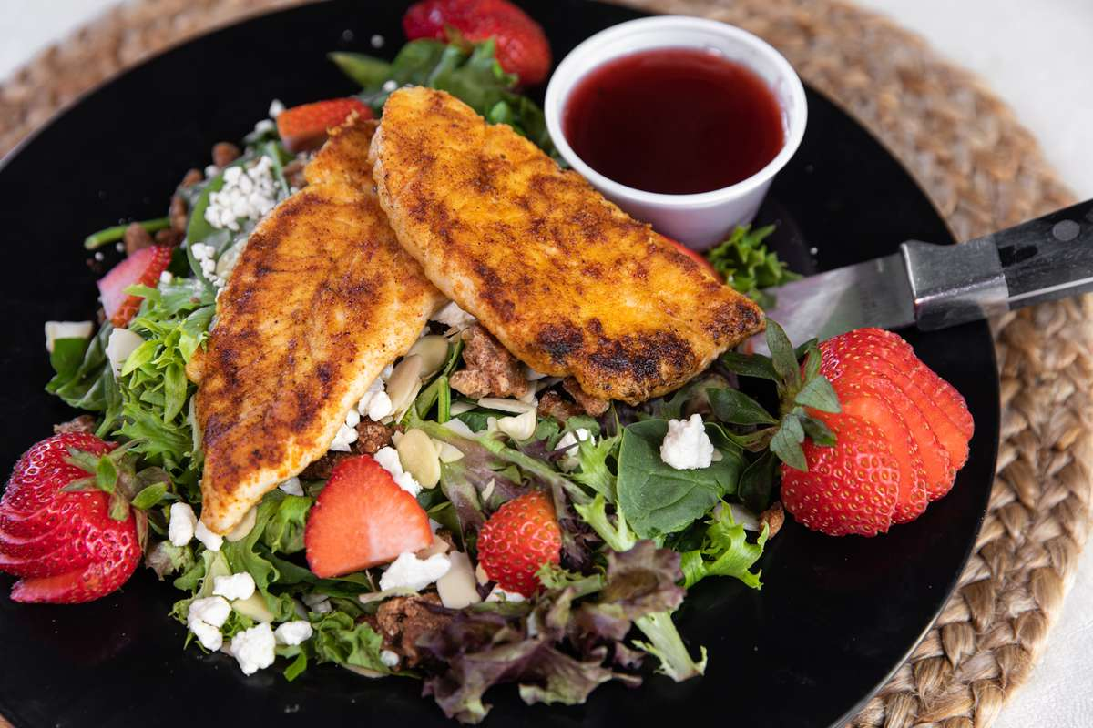 Strawberry & Feta, Saute Chicken Salad
