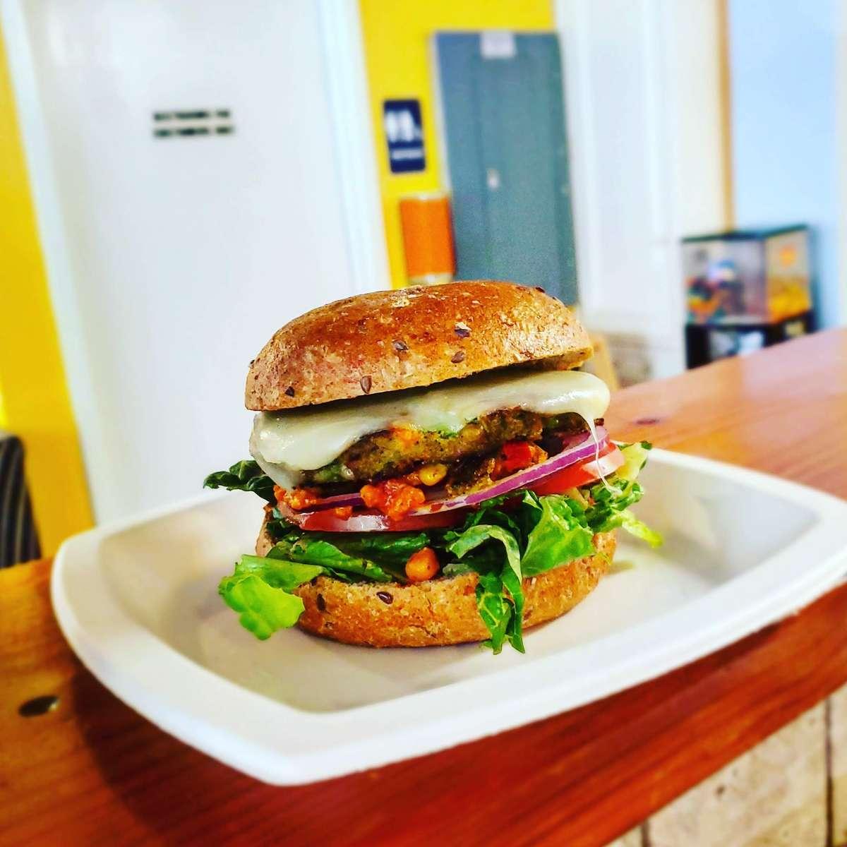 Burger and Veggie Burger