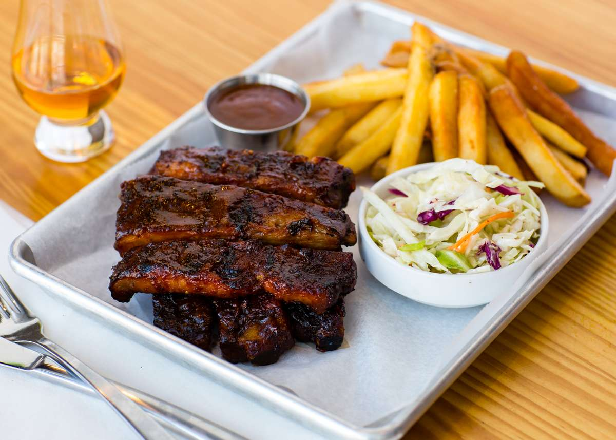 ribs and bourbon from landmark smokehouse