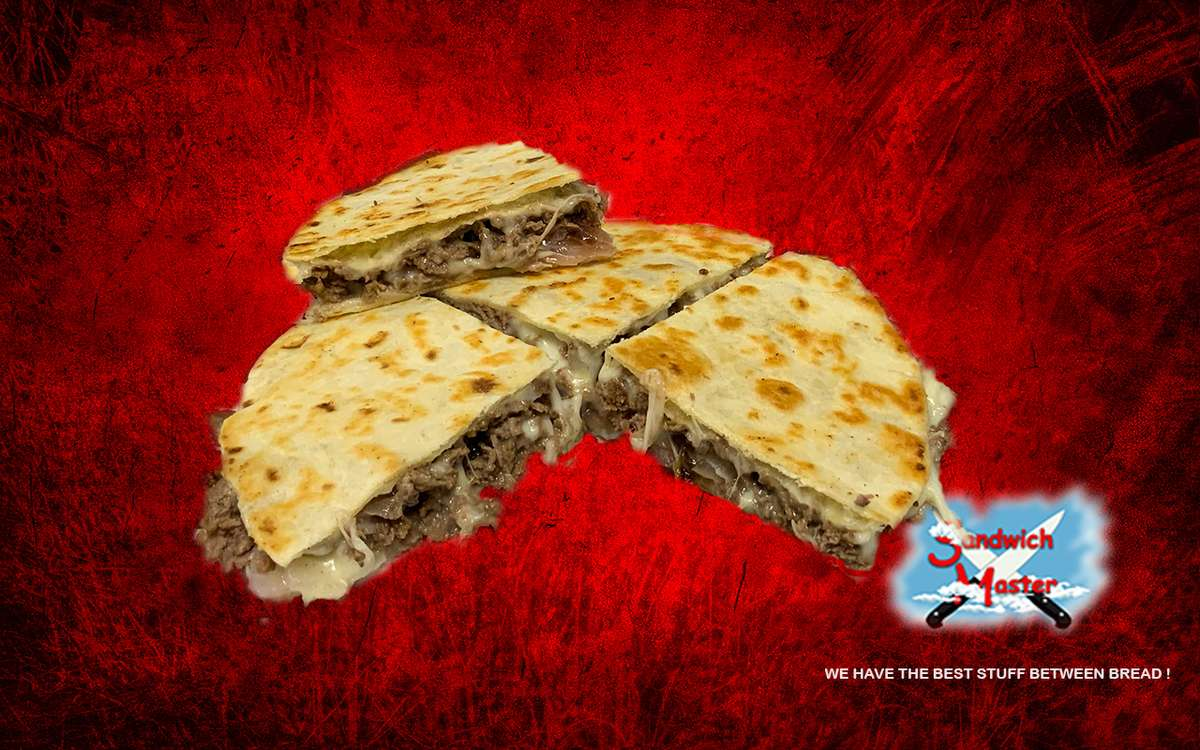 Steak, Cheese and Onions Quesadilla