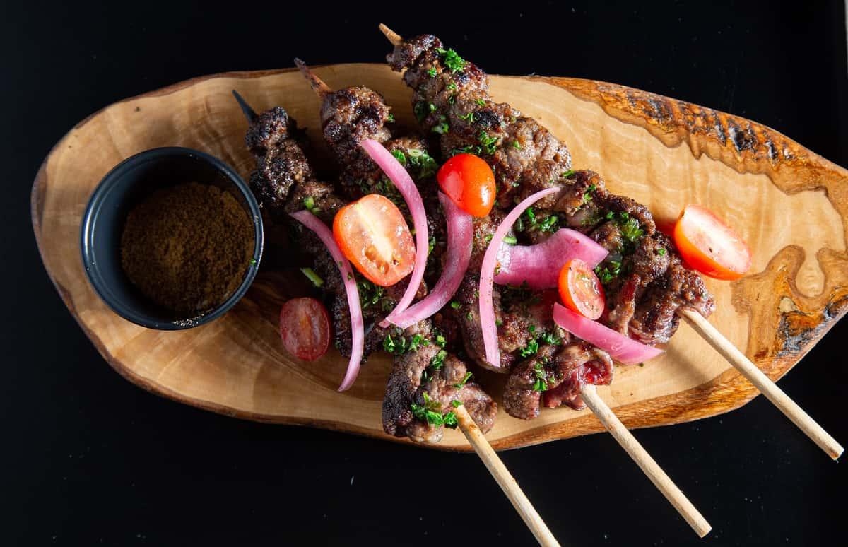 Ribeye Steak Suya Dinner