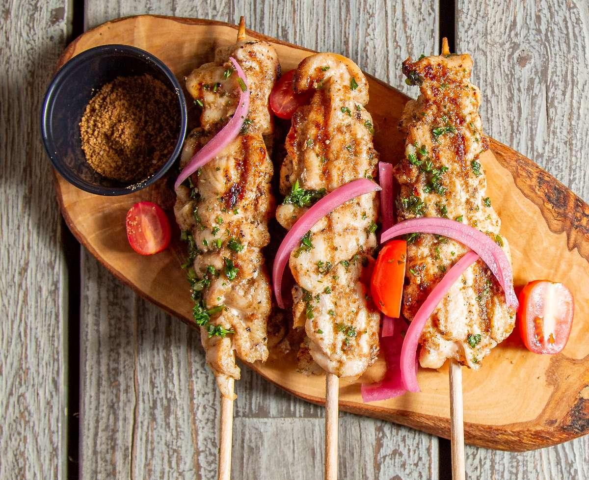 Chicken Suya Dinner