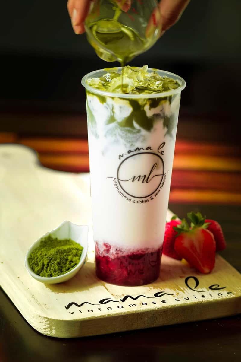 Strawberry Matcha Latte