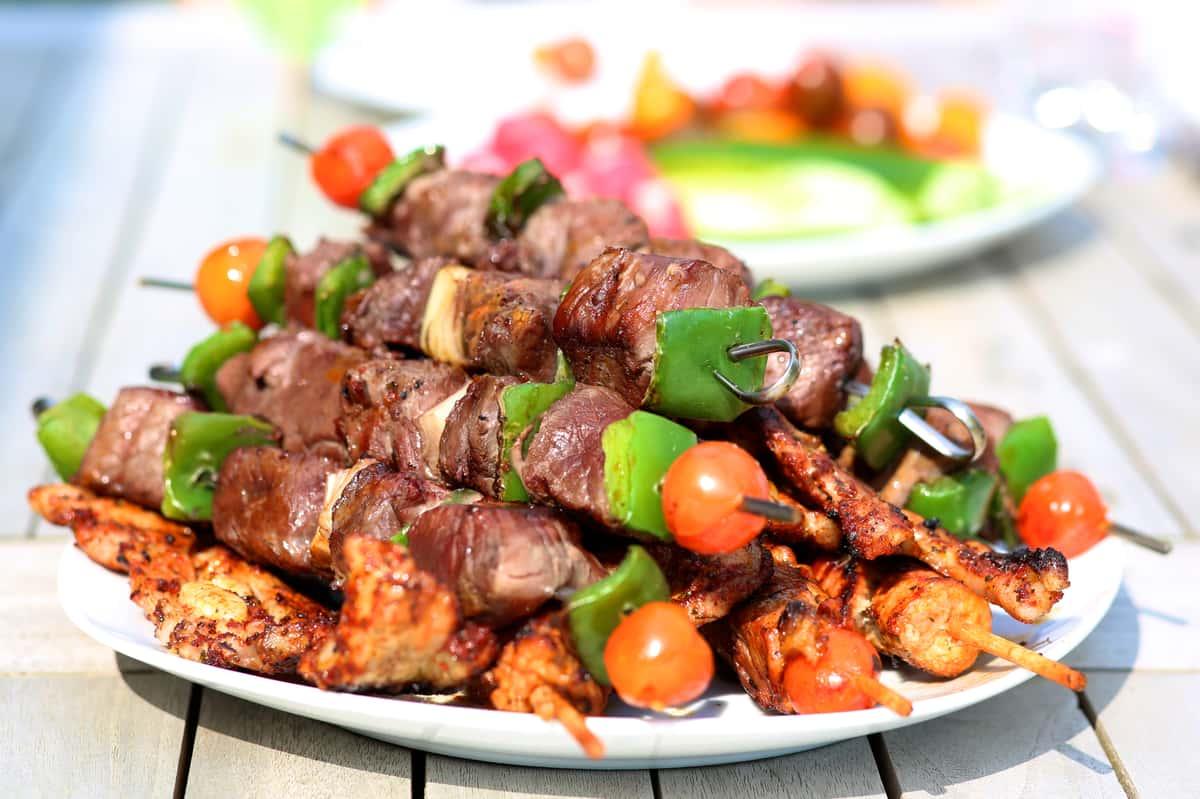 Chicken & Beef Kebabs