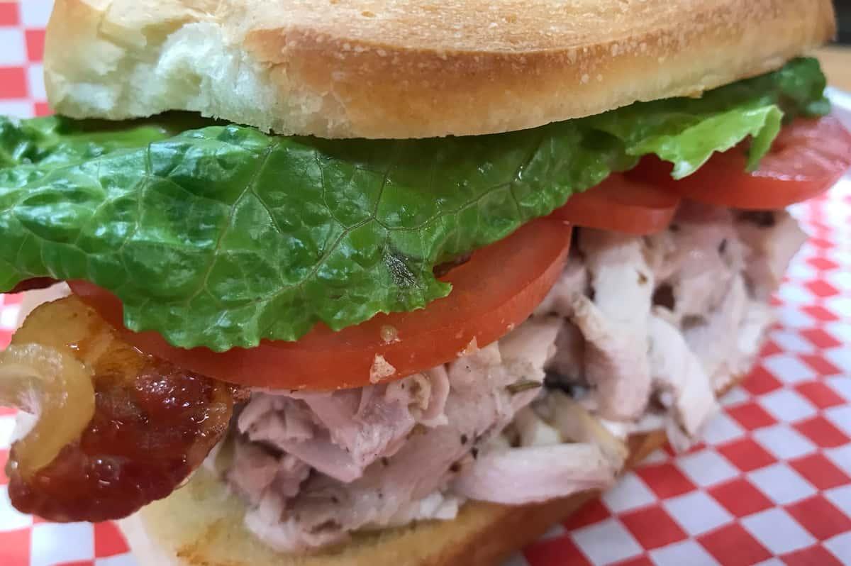 Pulled Chicken Club Sandwich