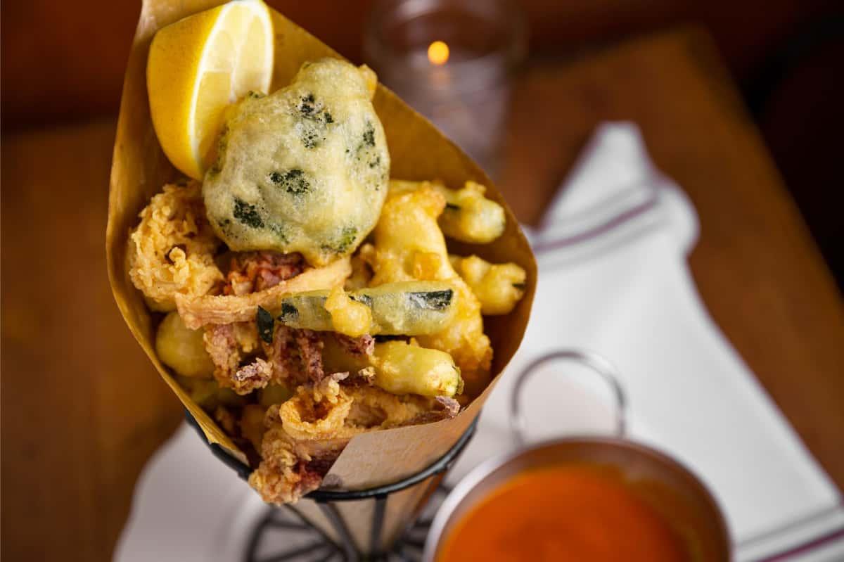 Fried Calamari & Tempura Vegetables