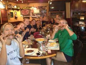 The Newport Harbor High School Girls Volleyball Team at Newport Rib Company