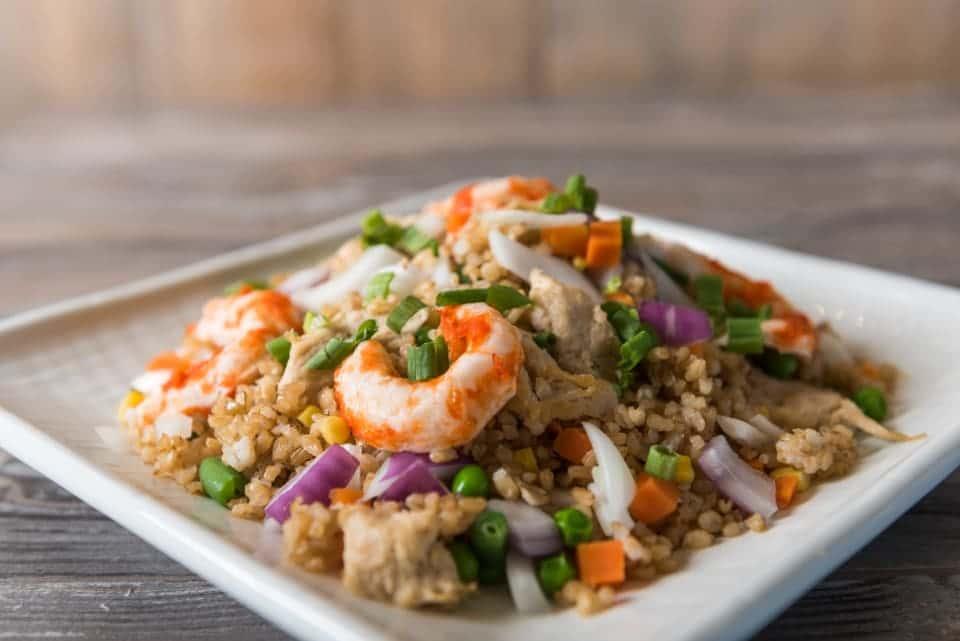 shrimp over rice