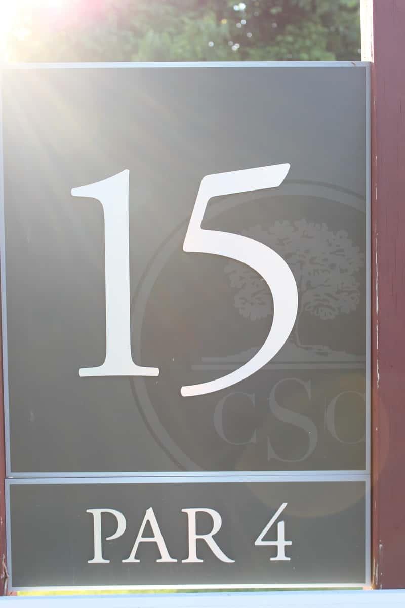 Hole 15, par 4