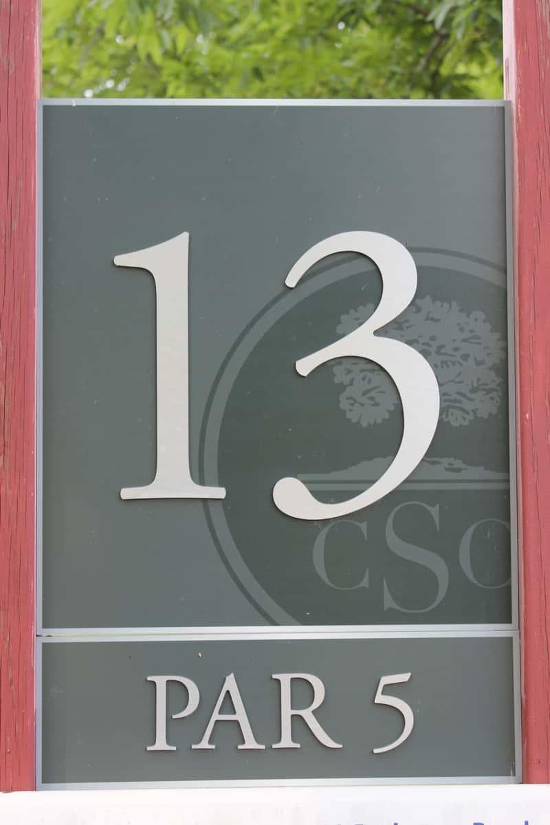 Hole 13, par 5