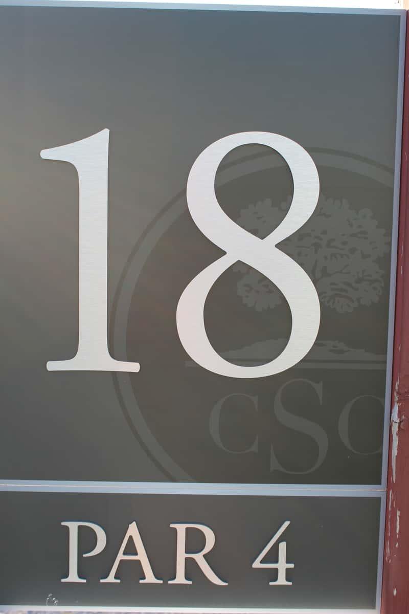 Hole 18, par 4